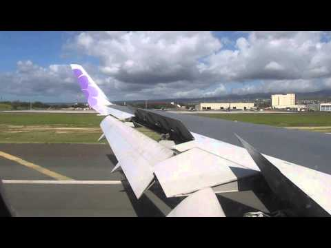 Hawaiian Airlines 767 - Landing at Honolulu International Airport (SMF-HNL)
