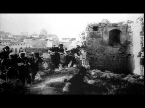 Turkish soldiers in combat  in Palestine during World War I HD Stock Footage