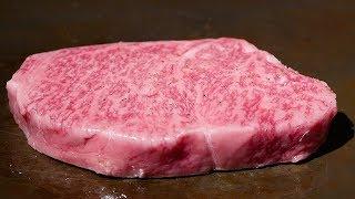 $250 KOBE BEEF STEAK Teppanyaki & Sushi In Japan