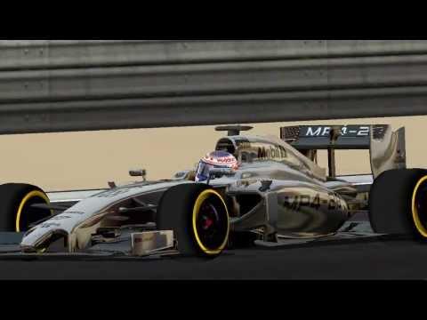 [F1C] McLaren-Mercedes MP4-29 @Bahrein with Jenson Button (F1 2014 WIP) [HD]