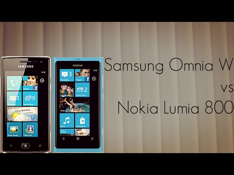 Samsung Omnia W vs Nokia Lumia 800 Mobiles Comparison