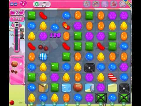 Candy Crush Level 92 - 1 Star 47k score - YouTube