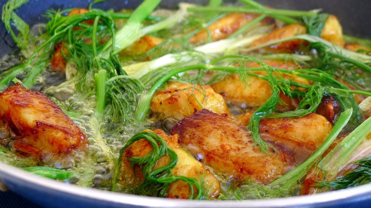 Hanoi Tumeric Fish with Dill - Cha Ca La Vong - YouTube