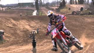World Champion Jeffrey Herlings jumps the leap in Geldermalsen