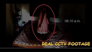 Scary Ghost Girl Caught On CCTV Camera : Girl Get