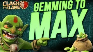 Clash Of Clans Gemming To Max Base Ep. 10! 212,000