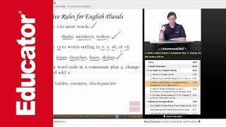 """Forming Plurals""   Advanced English Grammar with Educator.com"