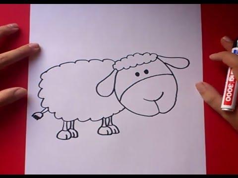 Como dibujar una oveja paso a paso - Como hacer una oveja ...