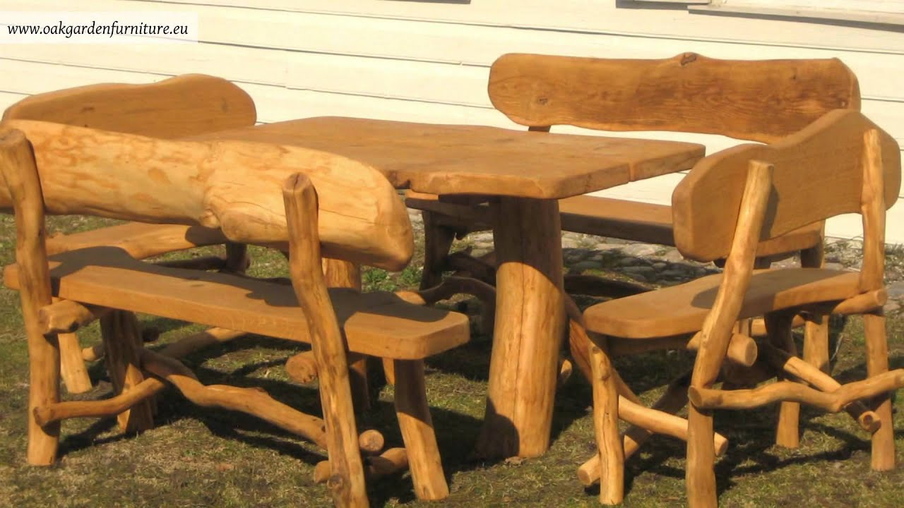 Rustic Garden Furniture Set Youtube