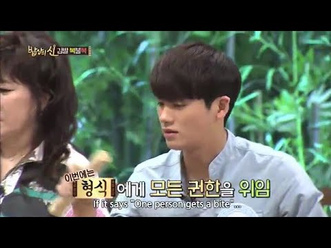 (Funny Moment) Kwang Hee Teased Hyung Sik with food