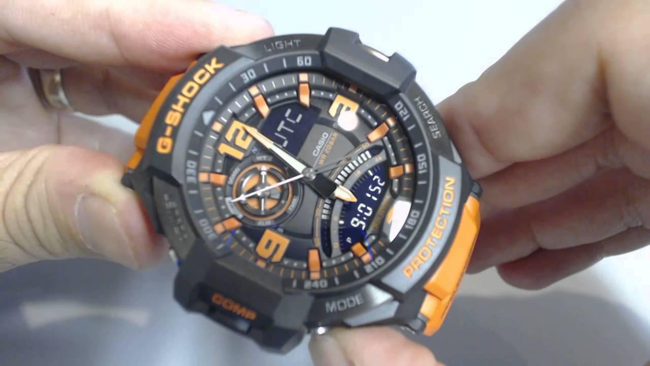 первом случае часы casio g shock с компасом рекомендуют