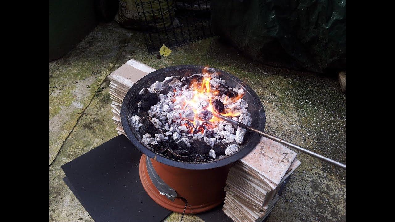 how to make a homemade metal forge