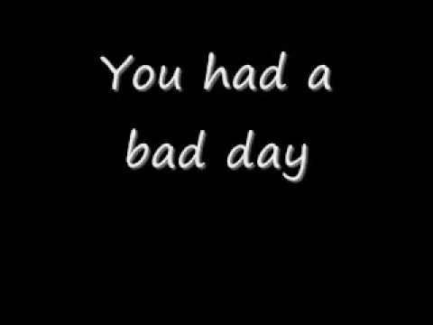 Daniel Powter-Bad Day (lyrics) - YouTube