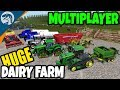 BIGGEST AMERICAN DAIRY FARM HUGE NEW EQUIPMENT Farming Simulator 17 Multiplayer Gameplay