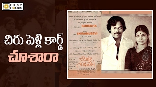 Mega Star Chiranjeevi Wedding Card hulchal on social media..