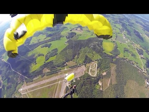 Friday Freakout: Skydiver Avoids Deadly Collision With Parachute In Freefall