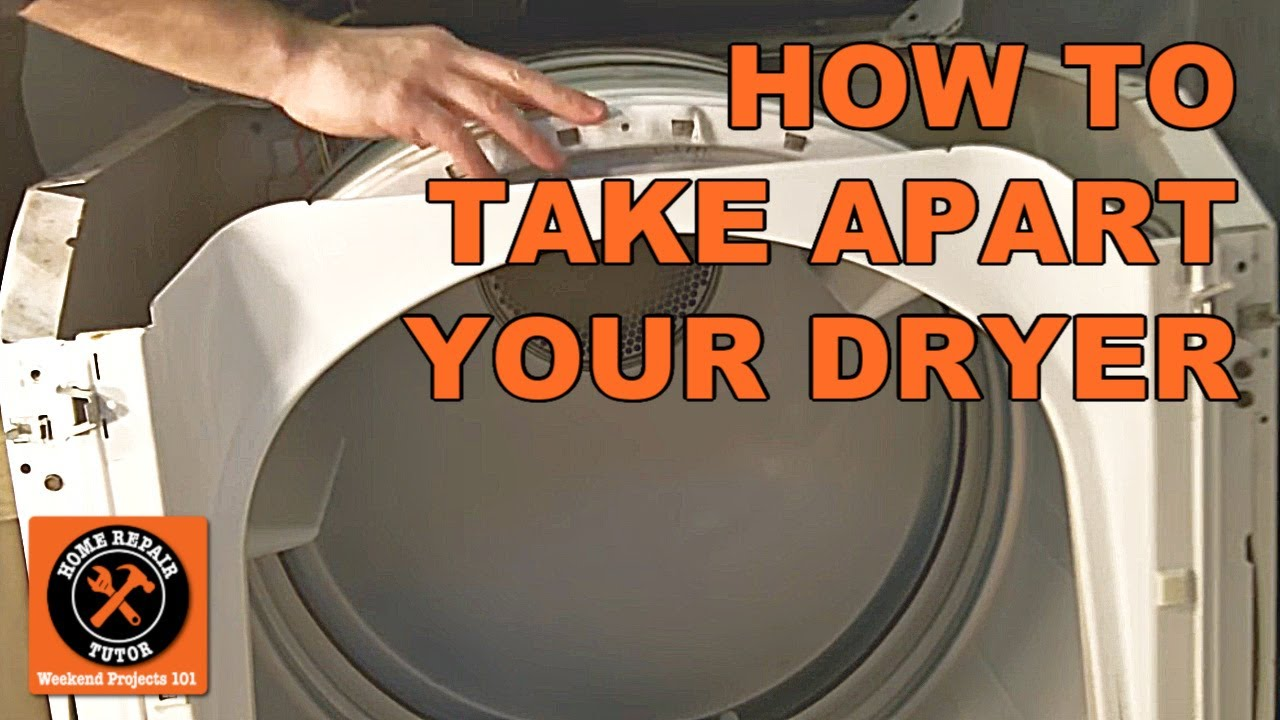 How To Take Apart A Maytag Electric Dryer -- By Home Repair Tutor