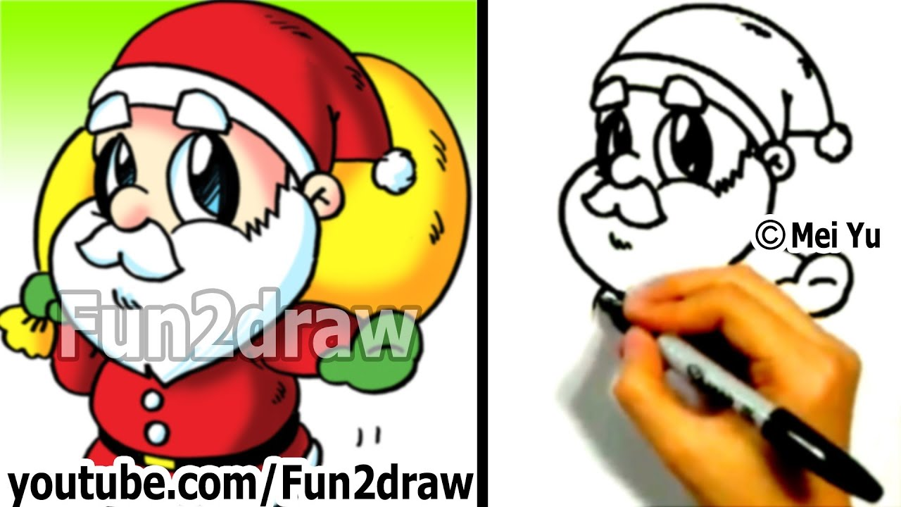 How To Draw Santa Fun Things To Draw Art Lessons