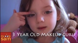 3-YEAR-OLD BELLA'S HILARIOUS MAKEUP TUTORIAL (Even Kids
