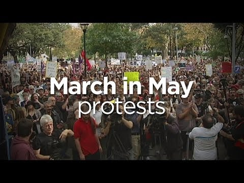 March in May: Thousands gather to protest budget