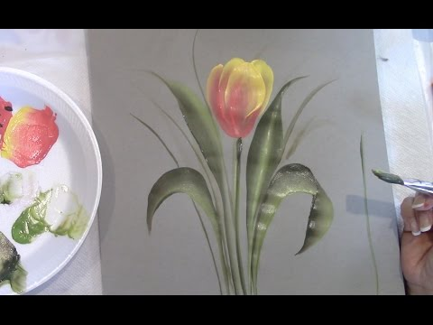 One Stroke Fast and Simple Tulip