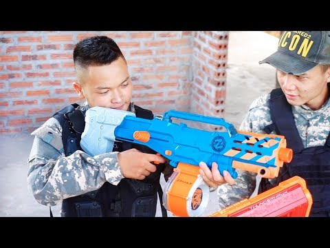 Battle Nerf War: Special Squad Nerf Guns Robber Group Battle Without Tolerance