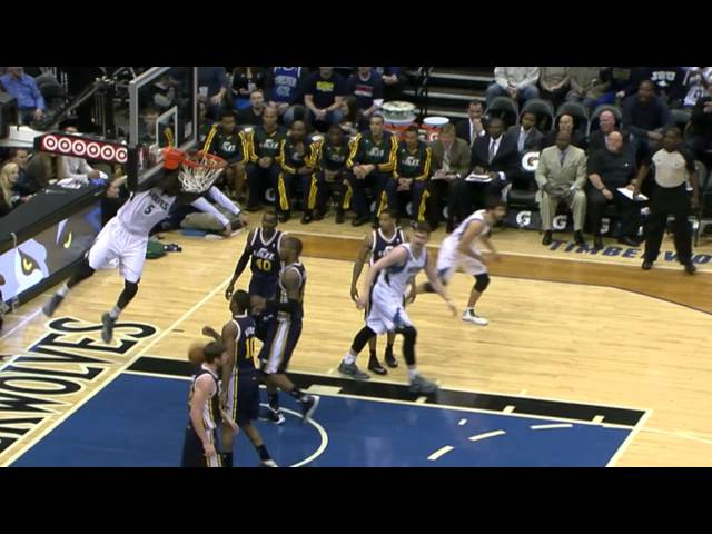 Ricky Rubio's Behind-the-Back Dish to Dieng for the Dunk
