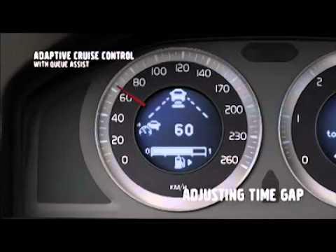 Volvo adaptive cruise control  - Cruise control adattivo con assistente di coda .