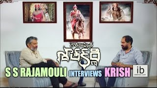 S S Rajamouli interviews Krish for Gautamiputra Satakarni..