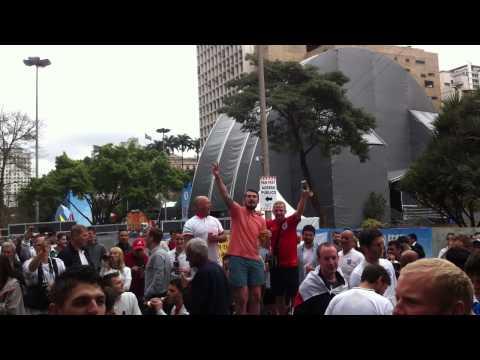 England Fans Sao Paulo 2014 Singing