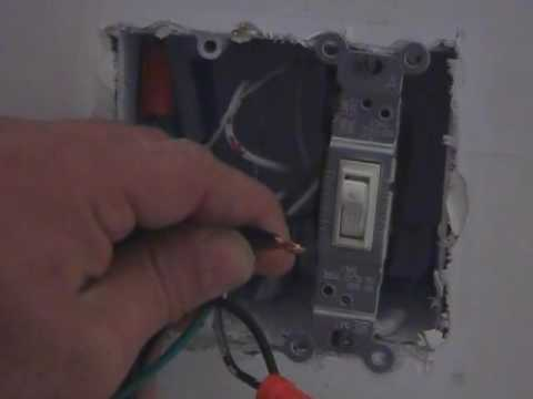 how to install a dimmer and or replace a light switch youtube. Black Bedroom Furniture Sets. Home Design Ideas