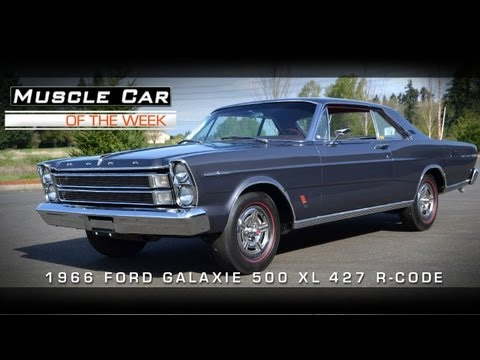 Muscle Car Of The Week Video #7: 1966 Galaxie 500 XL R-Code 427