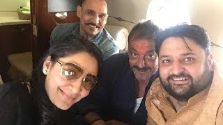 LEAKED PHOTOS: Sanjay Dutt In A Chartered Flight On His Way Home From Jail