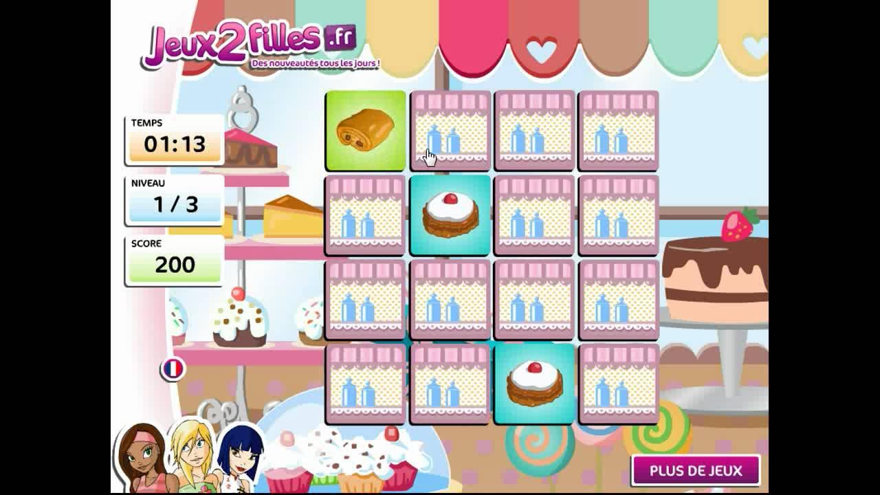 jeu de paires de g 226 teaux jeux de cuisine jeux de fille