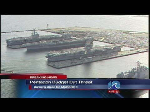 Lauren Compton reports on Pentagon budget cut threat
