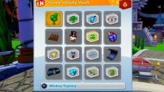 Disney Infinity Gameplay How To Get Bonus Items In Vault