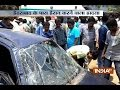 Truck collides with car at Vanasthalipuram area in Hydrabad