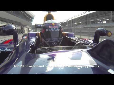 Sebastian Vettel drives 1988 Ferrari F1 car