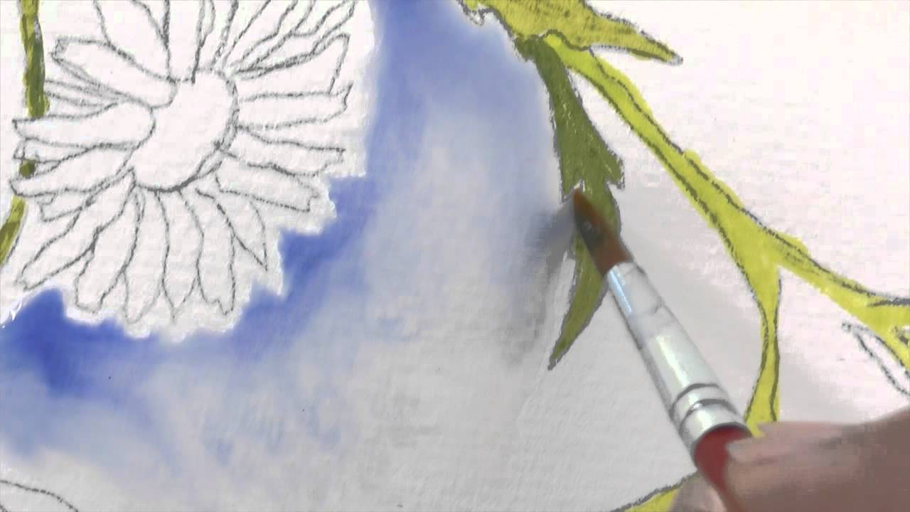 How to paint background watercolor painting tutorial for Video tutorial on watercolor painting