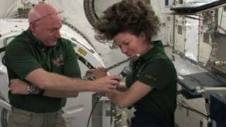 Astronaut Plays Flute On Space Station