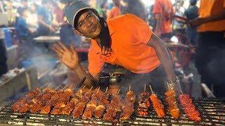 NIGHT MARKET FOOD in Manila Philippines: BBQ & BLOOD STEW