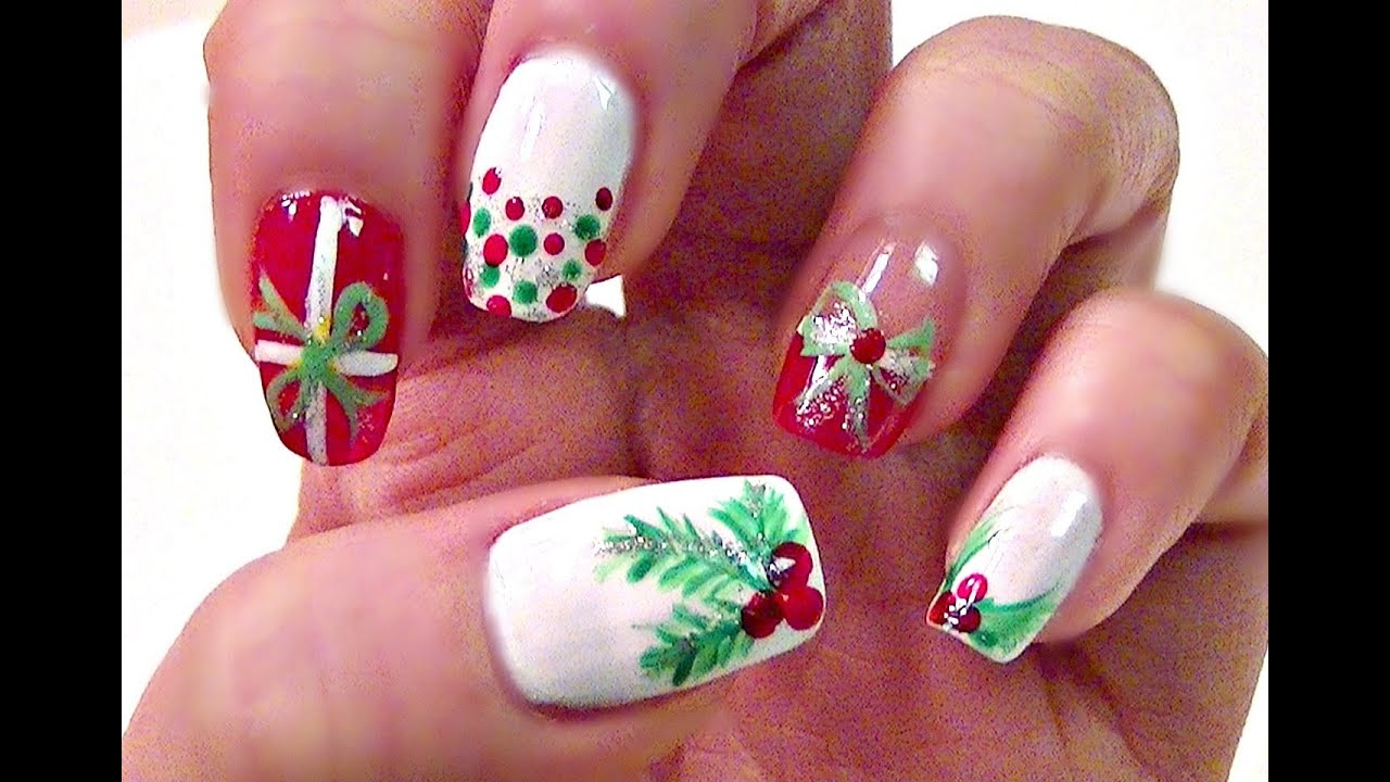 Funky Easy Christmas Nail Designs For Short Nails Adornment - Nail ...