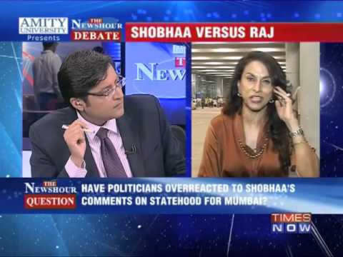 The Newshour Debate: Shobha De versus Shiv Sena, MNS - Full Debate