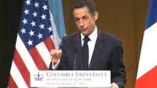 President Nicolas Sarkozy of France at Columbia University World Leaders Forum