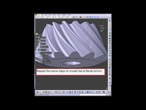 3D Spiral Bevel gear modeling in CATIA V5. Tutorial.
