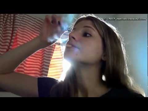 smoking putting makeup on - thegirlsmoking