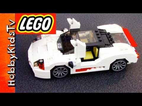 LEGO Car Highway Speedster - Box Open, Build Creator White City Car (31006)