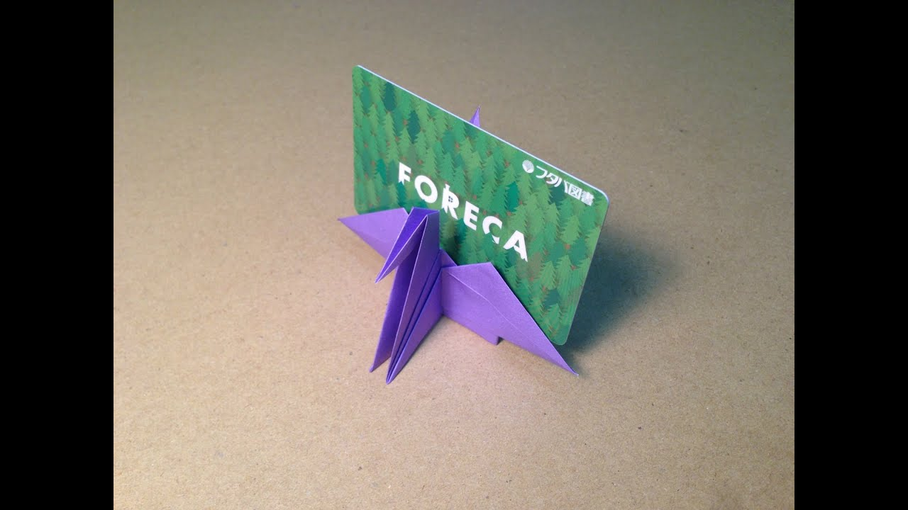 how to make a paper crane card stand youtube