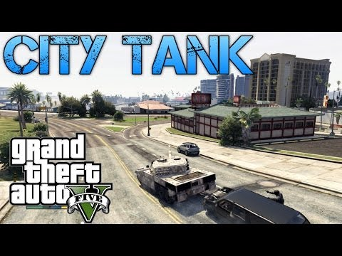 Grand Theft Auto V Challenges | TANK CITY RAMPAGE | DRIVING A TANK ON CHILIAD,