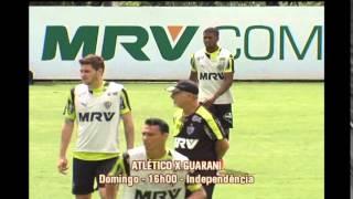 Veja como foi o dia de treino dos jogadores atleticanos na Cidade do Galo